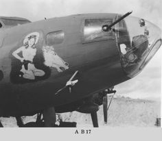 THE MUSTANG was a replacement B-17 for the 43rd Bomb Group's 403rd Squadron before it went to the 63rd Squadron. Initially, both sides of the nose had the horse's head nose art, but later the starboard side was partially repainted with an image of a cowgirl. Read more about this B-17 in Ken's Men Against the Empire, Volume I: The B-17 Era.