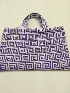 Lilac Squares  - Toddler Tote, $15.00