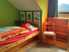 Upstairs bedroom three with double bed. View A.