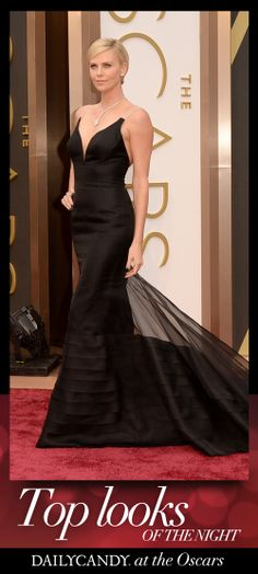Charlize Theron in Christian Dior. #oscars2014