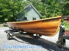 16FT Giesler Dory Cedar Strip Rowboat