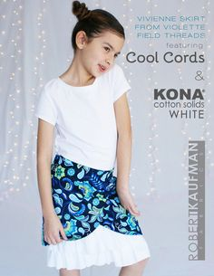 Vivienne skirt from Violette Field Threads feat. Cool Cords & Kona Cotton Solids