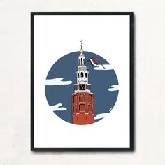 Exclusive Amsterdam City Art Prints Montelbaarstoren available in different sizes & with or without a frame Amsterdam City, City Art, Studio, Batman, Art Prints, Superhero, Frame, Character, Art Impressions