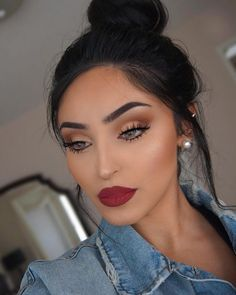 """musk"" ""oud"" and ""nefertiti"", in Noelle ""red brick road"" liquid lipstick shape tape concealer ""light medium honey Nose Makeup, Red Lipstick Makeup, Glam Makeup, Makeup Inspo, Makeup Inspiration, Beauty Makeup, Hair Makeup, Liquid Lipstick, Makeup Ideas"