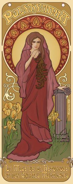 Polyhymnia  Muse of sacred poetry, sacred hymns