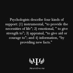 Psychology Facts - What kind of support do you most appreciate?