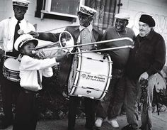Treme brass band with Trombone Shorty and Dr. John.