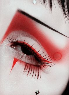 Red editorial make up