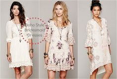 Boho Chic Bridesmaid Dress