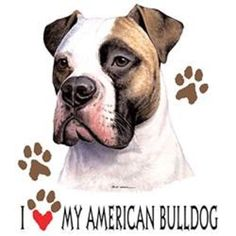 I Love My American Bulldog Dog HEAT PRESS TRANSFER for T Shirt Sweatshirt 821h