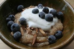For breakfast – top warm millet with whole yogurt, honey and fresh/dried/stewed fruit. I also love it with a scoop of applesauce, stirred in with toasted nuts and keifer or warmed with almond milk and spices.
