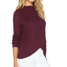 "Free People Boho wrap sweater *HP* NWT I paid 88 ~~NWT, FP boho wrap design w plush texture, called plum on tag but it's darker in person than pic 2 & 4 show, #3 best --mock cowl, like scoop w/definition. --linen/cotton/polyester blend, hand wash, dry flat. ~~or dry clean ~~size medium, runs big see measure... ~~ measurements flat: bust19"", shoulder- longest side is 26"" & 24 @ shortest. ~~MSRP: $88  This has metal FP TAG & fabric tag  HP by @Bellanblue I've bought from her! Love her!  HP…"