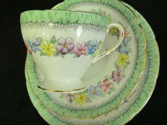 Foley china   Foley china tea trio - floral