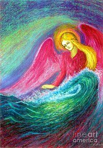 Angel Painting - Calming Angel by Jane Small