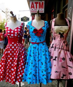 Love these summer repro dresses. rockabilly girls | Flickr - Photo Sharing!