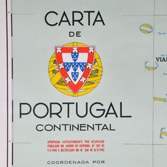 Vintage map of Portugal (1967 edition).
