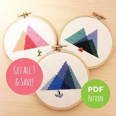 Minimal Mountains  Get All 3 & Save  Modern by TreefortFiveShop