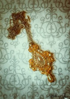 """Atelier Jen - """"Musetta"""" pendant necklace http://www.atelierjen.com"""