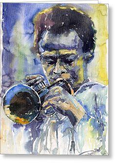 Music Wall Art - Painting - Jazz Miles Davis 12 by Yuriy Shevchuk Music Wall Art, Music Artwork, Jazz Art, Music Painting, Black Artwork, Miles Davis, Thing 1, African American Art, Sculpture