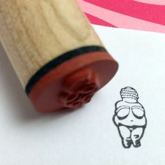 Sooo cute! Neolithic Goddess Rubber Stamp  Venus of Willendorf by RADstamps, $3.75