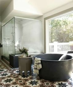 Which one do you bathe in. The bath is awesome but that shower is huge.