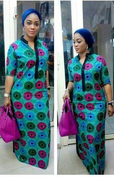 Pregnancy Dresses: Ankara Dress , African Clothing, Ankara Dresses, African dress, African ladies d… African Fashion Ankara, Latest African Fashion Dresses, African Print Fashion, Fashion Prints, Dress Fashion, Africa Fashion, Ladies Fashion, Long African Dresses, African Print Dresses