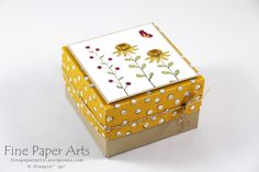 Stampin up - Sale-A-Bration 2016, Flowering Fields,Box, Verpackung - Fine Paper Arts