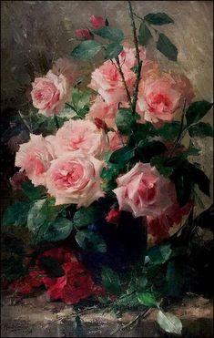 Les fleurs par les grands peintres (48) - Max Albert Carlier (1872-1938)