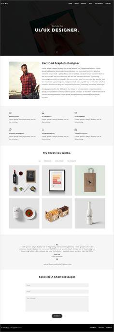 Personal Portfolio Template Personal portfolio, Resume cv and - personal resume