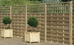 x Fence Panel Pack of 3 - Pressure Treated Decorative Europa Montreal