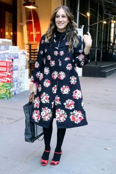 Nyfw Street Style, Casual Street Style, Sarah Jessica Parker, Full Skirt Dress, The Dress, Pop Up, Nude Gown, Evolution Of Fashion, Vogue