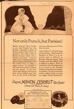 Bonjour, Emily: Vintage Adverts. 1922