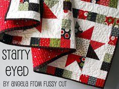 Moda Bake Shop: Starry Eyed Quilt, perfect Christmas quilt.    #modabakeshop, #modafabric, #lovepinwin