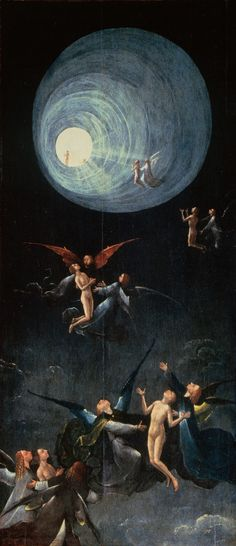 Hieronymus Bosch. Paradise, Ascent of the Blessed. 1490