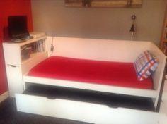 Ikea Odda Flaxa Childrens Bed Frame Headboard Pull Out Guest Mattress
