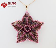 Beading Tutorial Clematis Flower - Beading Tutorials and Patterns by Ellad2