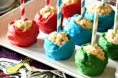 rice krispies treat pops instead of cupcakes??? Just Another Day in Paradise: Rice Crispie Treat Pops