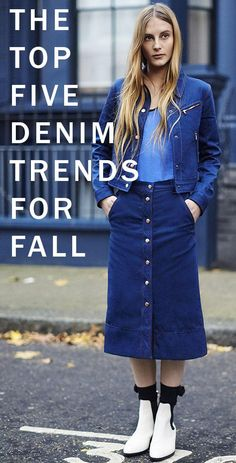 From jackets to skirts–here are the top 5 jean and denim trends you need to know about this fall