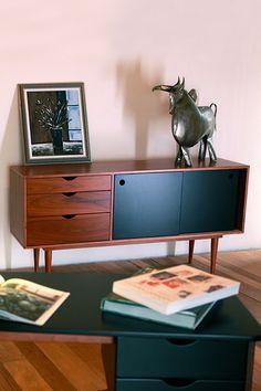 bahut enfilade bleu ann es 60 c te et vintage pinterest. Black Bedroom Furniture Sets. Home Design Ideas
