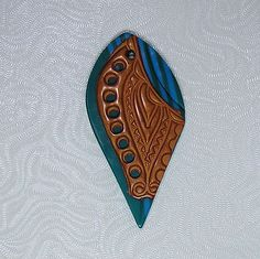 Polymer Clay Layered Pendant   by auntgriz