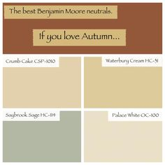 Best Benjamin Moore colors by the season.