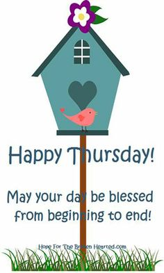 Happy Thursday! Have a blessed day!