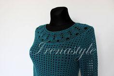 Lace top blouse Crochet handmade  custom made cotton