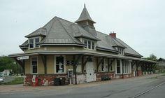 Fort Edward D&H Train Station in Washington County, New York.