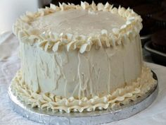 Recipe for White Wedding Cake- so easy and delicious. Turns out perfect every time. Photograph included.