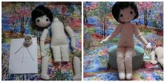 Crocheted Posable Doll ~ By Hook, By Hand: Meet Bleuette ~ I MUST make this when I feel comfortable with my crochet skills.