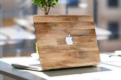 Autocollant peau vinyle bois non traités pour Apple Macbook Air, Macbook Pro rétine, Toshiba HP Dell Asus Acer Lenovo