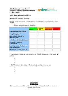 Autoevaluación del alumno para un proyecto by Canal de CeDeC via slideshare