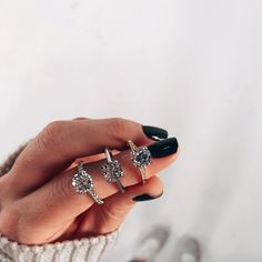 1, 2, or 3? #BlueNileSparkle  •  •  •  #EngagementRing #Wedding #Proposal #Diamonds #Love #Ringoftheday #Sparkly #Shesaidyes #Weddingring