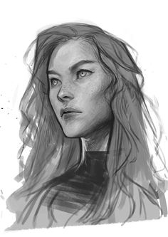 Feyre by Charlie Bowater Drawing Reference Poses, Art Reference, Cartoon Drawings, Art Drawings, Character Design Inspiration, Illustration Art, Illustrations, Traditional Art, Cute Art